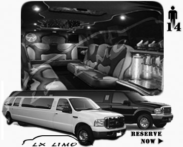 Lincoln Excursion SUV Limo for hire in Pittsburgh PA