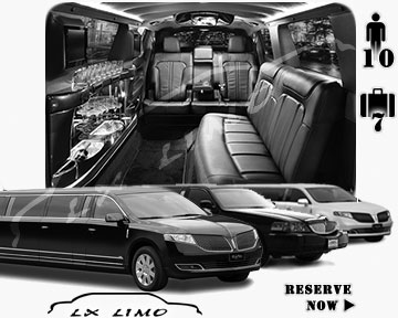 Stretch Limo airport shuttle in Pittsburgh