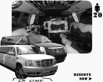 Cadillac Escalade 20 passenger SUV Limousine for rental in Pittsburgh PA